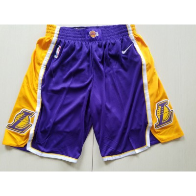 NBA Lakers Purple Nike Authentic Shorts
