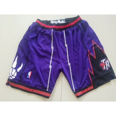 NBA Raptors Purple Nike Authentic Shorts