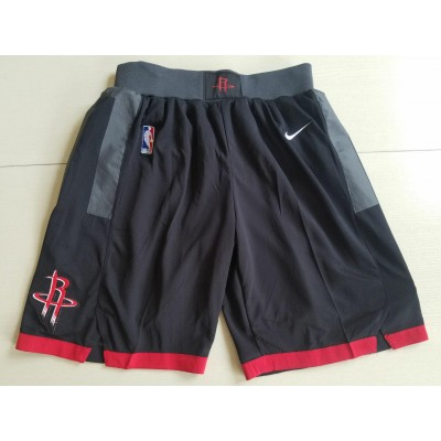 NBA Rockets Black Nike Authentic Shorts