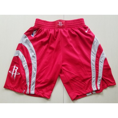 NBA Rockets Red Nike Authentic Shorts