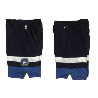 NBA Timberwolves Navy Nike Authentic Shorts