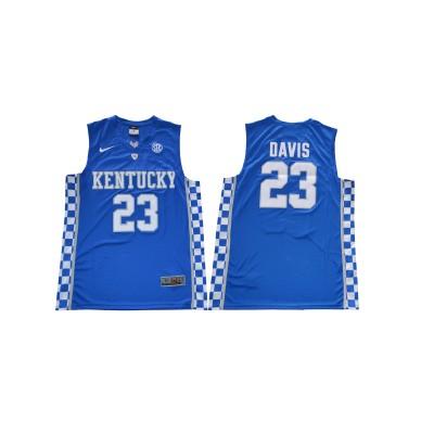 NCAA Kentucky Wildcats 23 Anthony Davis Towns Blue College Basketball Men Jersey
