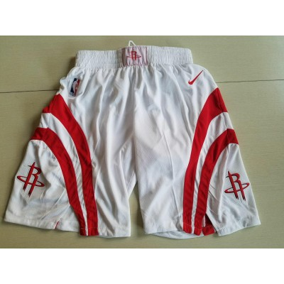NBA Houston Rockets White Nike Shorts