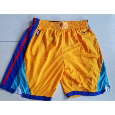 NBA Warriors Gold City Edition Nike Swingman Shorts