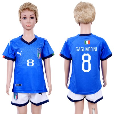 2018-19 Italy 8 GAGLIARDINI Home Soccer  Youth Jersey