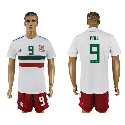 Mexico 9 RAUL Away 2018 FIFA World Cup Soccer  Men Jersey