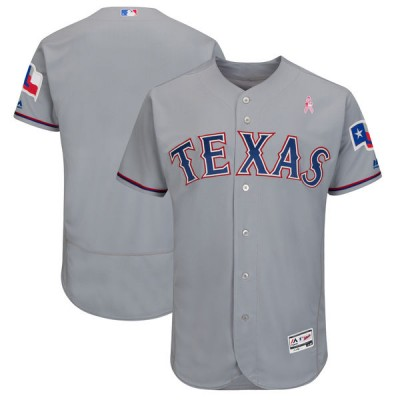 MLB Rangers Blank Gray 2018 Mother's Day Flexbase Men Jersey