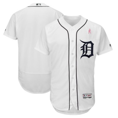 MLB Tigers Blank Whites 2018 Mother's Day Flexbase MenJersey