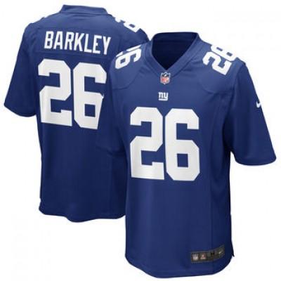 NFL New York Giants 26 Saquon Barkley Nike Royal 2018 NFL Draft Elite Youth Jersey