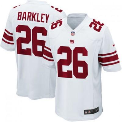 NFL New York Giants 26 Saquon Barkley Nike White 2018 NFL Draft Elite Youth Jersey