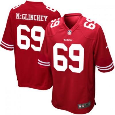NFL San Francisco 49ers 69 Mike McGlinchey Nike Scarlet 2018 NFL Draft Elite Men Jersey