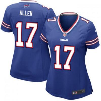 NFL Buffalo Bills 17 Josh Allen Nike Royal 2018 NFL Draft Elite Women Jersey