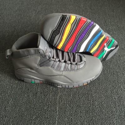 """Air Jordan 10 Grey """"Colorful"""" Shoes"""