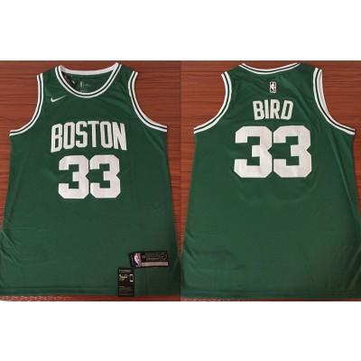 NBA Celtics 33 Larry Bird Green Nike Swingman Men Jersey