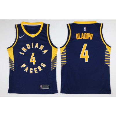 NBA Pacers 4 Victor Oladipo Navy Nike Men Jersey