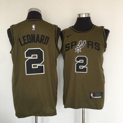 NBA Spurs 2 Kawhi Leonard Olive Nike Swingman Men  Jersey