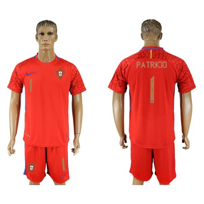 Portugal 1 PATRICIO Red Goalkeeper 2018 FIFA World Cup Soccer Men Jersey