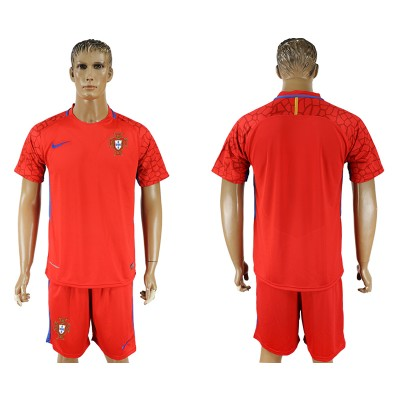 Portugal Red Goalkeeper 2018 FIFA World Cup Soccer  Men Jersey