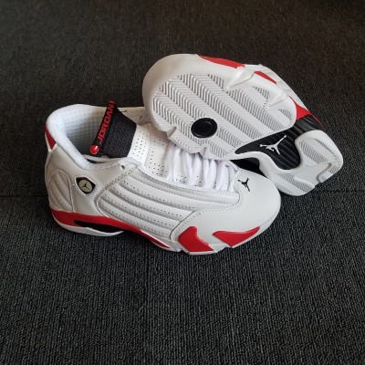 "Air Jordan 14 (XIV) Retro ""Candy Cane"" White/Varsity Red Shoes"
