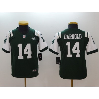 Nike Jets 14 Sam Darnold Green Vapor Untouchable Limited Youth Jersey