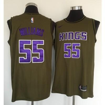 NBA Kings 55 Jason Williams Olive Nike Swingman Men Jersey
