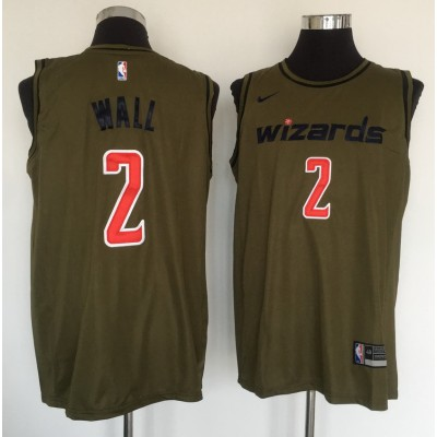 NBA Wizards 2 John Wall Olive Nike Swingman Men Jersey