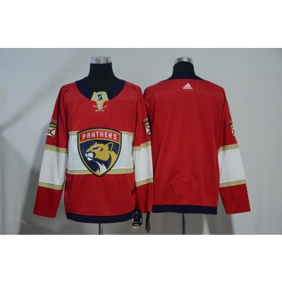 NHL Panthers Blank Red Adidas Men Jersey