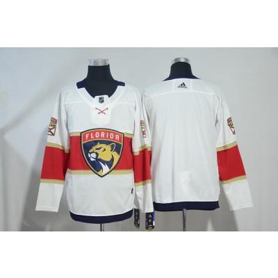 NHL Panthers White Red Adidas Men Jersey