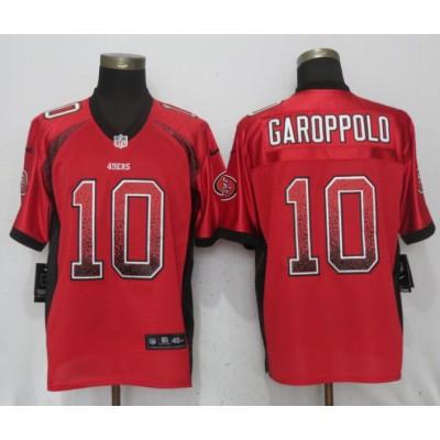 Nike 49ers 10 Jimmy Garoppolo Red Drift Fashion Elite Men Jersey