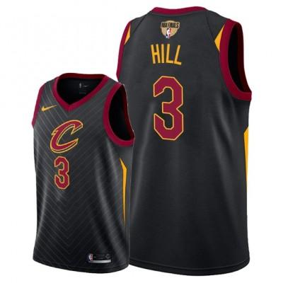 NBA Cavaliers 3 George Hill 2018 NBA Finals Patch Black Men Jersey