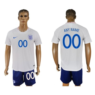 England Home 2018 FIFA World Cup Customized Men Jersey