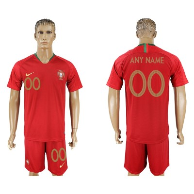 Portugal Home 2018 FIFA World Cup Customized Men Jersey