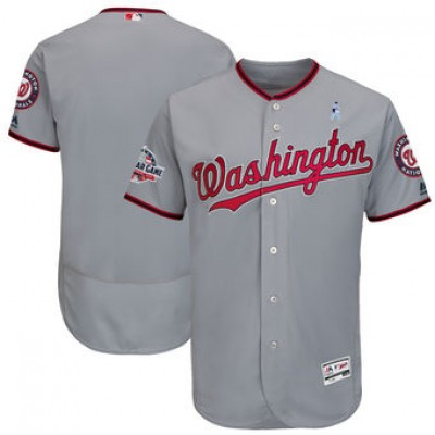 MLB Nationals Blank Gray 2018 Father's Day FlexBase Men Jersey