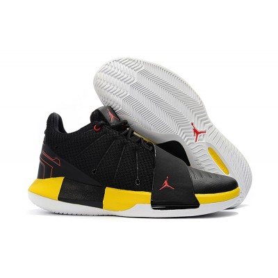 "Jordan CP3 XI ""Taxi"" Black/White-Tour Yellow-University Shoes"