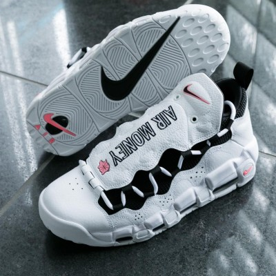 """Nike Air More Money """"Rolling in it"""" White Shoes"""