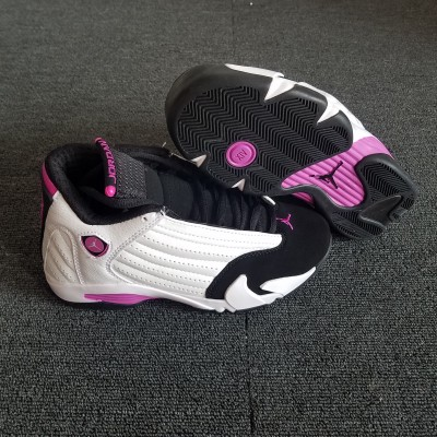 "Air Jordan 14 Retro ""Fuchsia Blast"" White Pink Shoes"