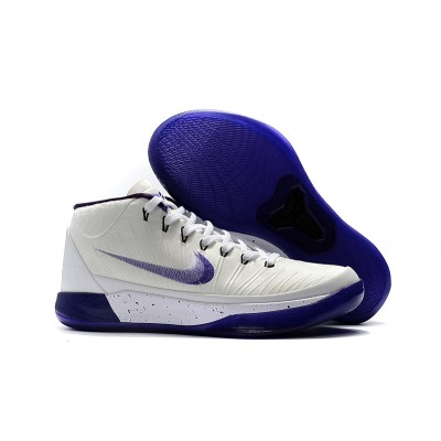 Nike Kobe AD Mid 'Baseline' White/Court Purple-Black Shoes