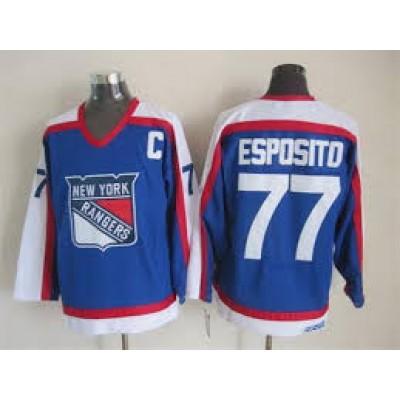 NHL New York Rangers 77 Phil Esposito 1976-1978 Vintage CCM Throwback Men Jersey