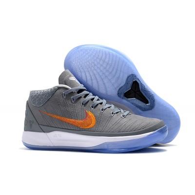 Nike Kobe AD Grey Snake Chrome Habanero Red-Circuit Orange Shoes