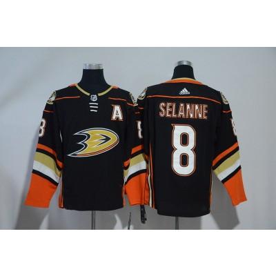 NHL Ducks 8 Teemu Selanne Black Adidas Men Jersey