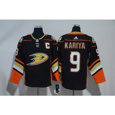NHL Ducks 9 Paul Kariya Black Adidas Men Jersey