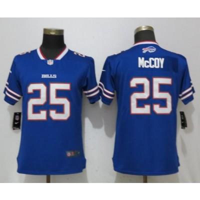 Nike Bills 25 LeSean McCoy Blue Vapor Untouchable Limited Women Jersey