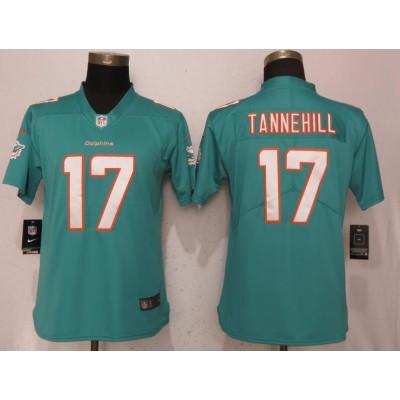 Nike Dolphins 17 Ryan Tannehill Aqua Vapor Untouchable Limited Women Jersey