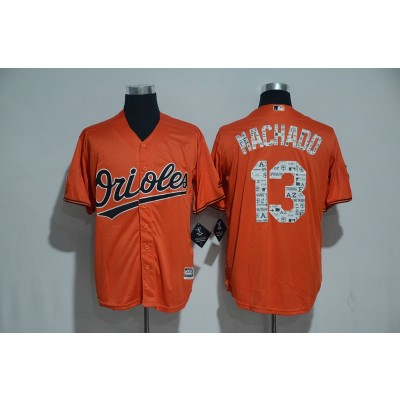 MLB  Orioles Manny Machado Orange 2018 Spring Training Cool Base Men Jersey