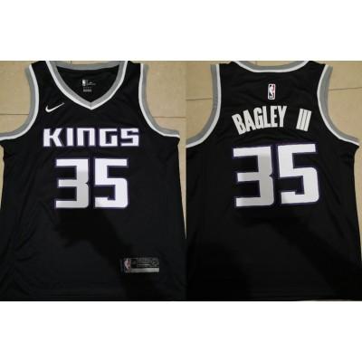 NBA Kings 35 Marvin Bagley III Black Nike Swingman Men Jersey