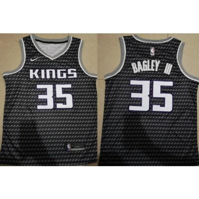NBA Kings 35 Marvin Bagley III Black City Edition Nike Swingman Men Jersey