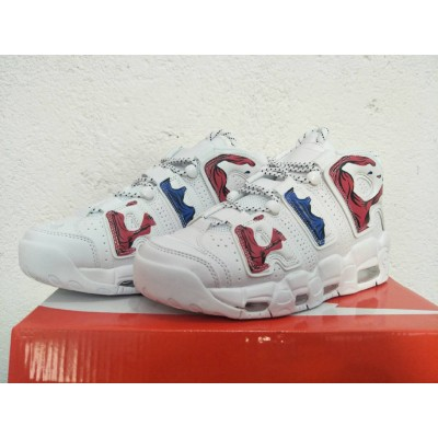 """Nike Air More Uptempo """"Suptempo"""" White Red Blue Shoes"""