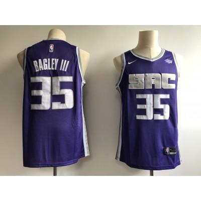 NBA Kings 35 Marvin Bagley III Purple 2018 NBA Draft Nike Men Jersey