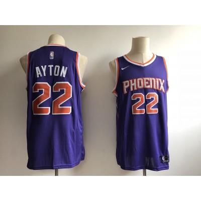 NBA Suns 22 Deandre Ayton Purple 2018 NBA Draft Nike Men Jersey