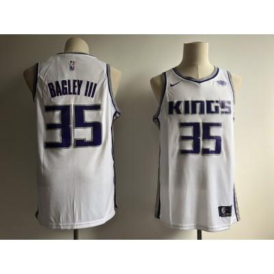 NBA Kings 35 Marvin Bagley III White 2018 NBA Draft Nike Men Jersey